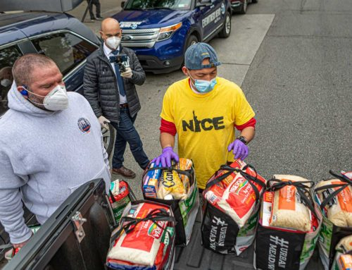Bronx Brigade Partners with NICE for Community Food Drive